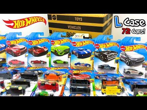 Unboxing Hot Wheels 2018 L Case 72 Car Assortment! (видео)