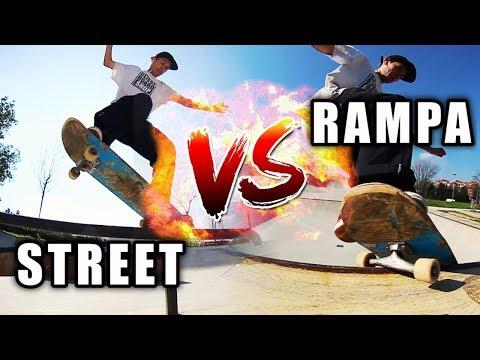 STREET SKATE VS RAMPA SKATE | Filmer Sk