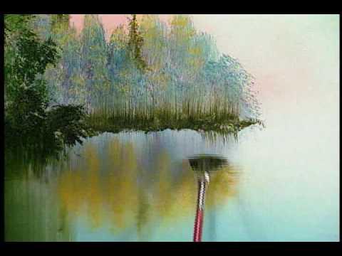 Bill Alexander paints Fall River part 2/3 wet on wet oil painting art