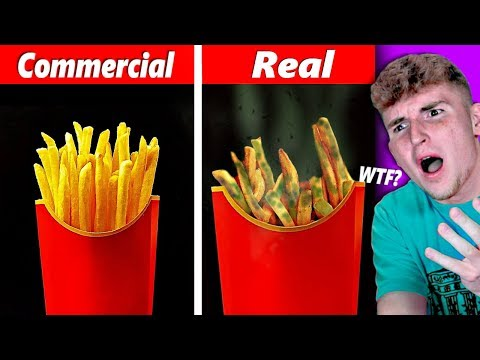 FOOD In COMMERCIALS VS. FOOD In REAL LIFE.. (Ridiculous)
