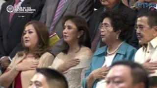 Bayang Barrios sings national anthem at Duterte Sona