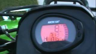 10. Arctic cat 450 speed run