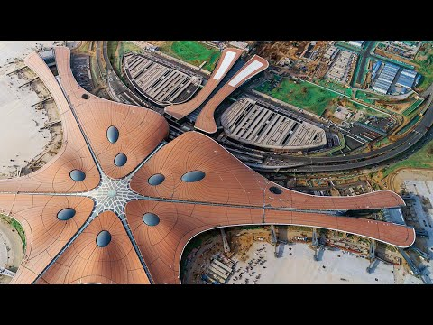 The Construction of China's New Airport Wows the World