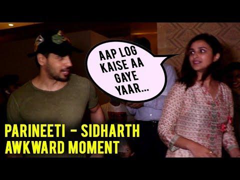 Parineeti Chopra Sidharth Malhotra Get AWKWARD See