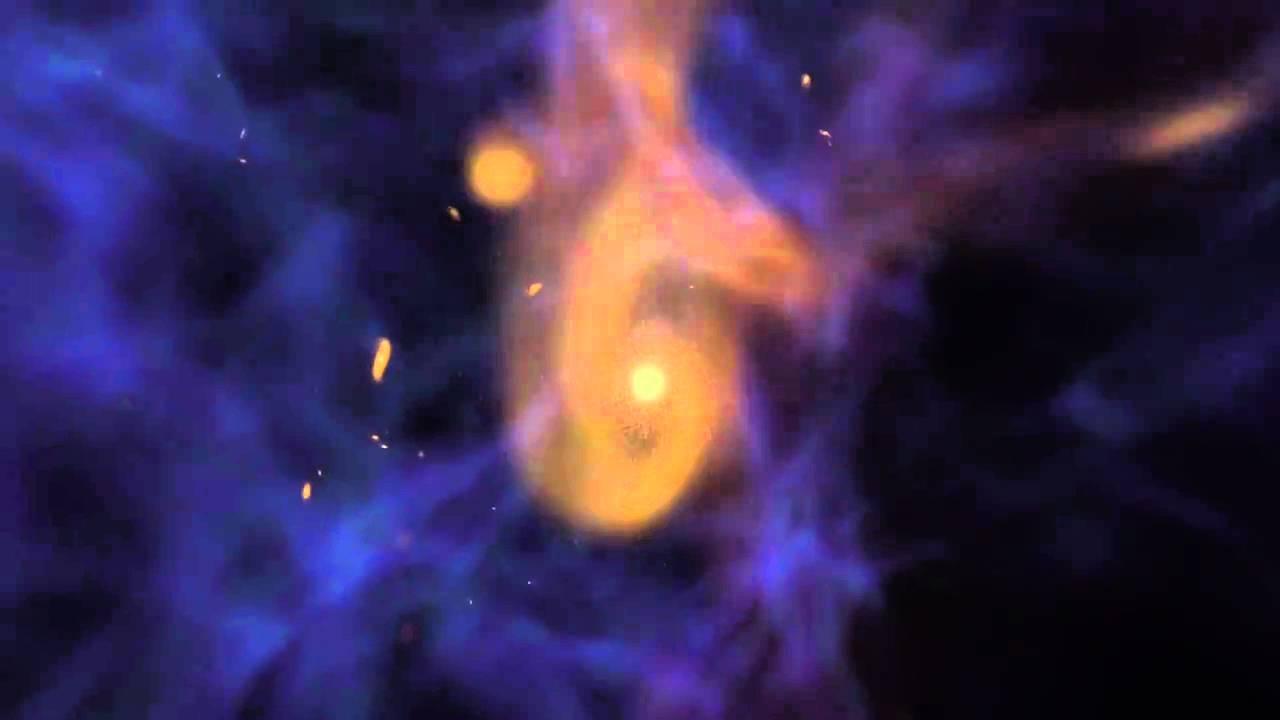Evoluce vesmírných galaxiíi