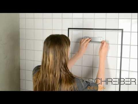 Spiegelmontage ohne Bohren Schreiber Spiegel 20+30 mm