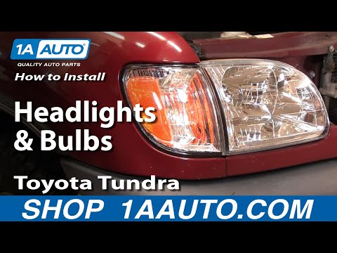 How To Install Replace Headlights and Bulbs Toyota Tundra 00-04 1AAuto.com
