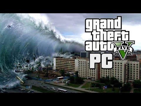 Tsunami Hits Los Santos GTA V PC - Mod Gameplay