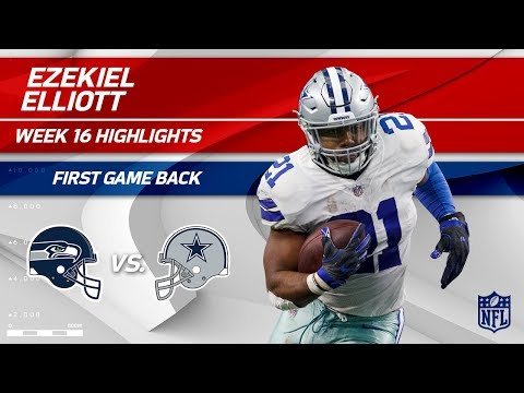 Video: Ezekiel Elliott Highlights from First Game Back! | Seahawks vs. Cowboys | Wk 16 Player Highlights