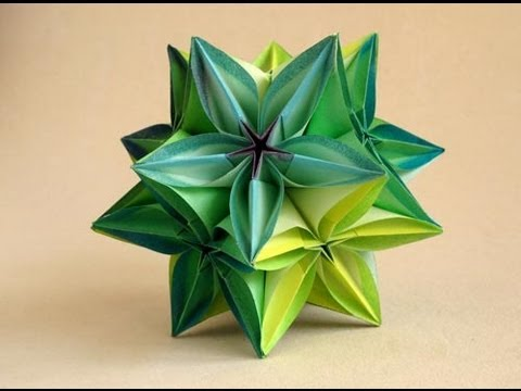 Kusudama Tutorial - 022 -- Flower