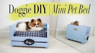 DIY Mini Dog / Cat Bed | Super EASY | ANNEORSHINE - YouTube
