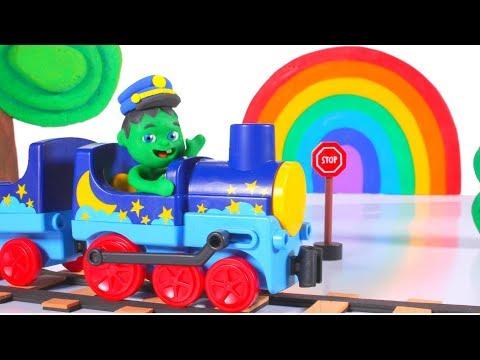 SUPERHERO BABY DRIVES A FUNNY TRAIN ? SUPERHERO PLAY DOH CARTOONS FOR KIDS_A héten feltöltött legjobb vicces videók