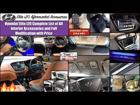 Elite I20 Full List Of All Interior Accessories With Price | I20 Best Modified Interior