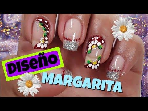 Uñas decoradas - Uñas Margaritas/Uñas Uñas/Decoración de uñas con Flores