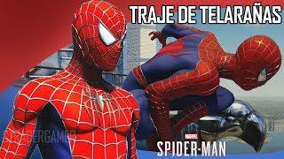 SPIDERMAN PS4 TRAJES: TRAJE DE TELARAÑAS | SAM RAIMI SUIT | TRAJE DE LA PELICULA | STRADER GAMER