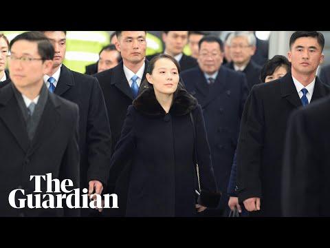 Kim Jong-un's sister heads North Korea's Winter Olympics delegation (видео)