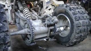8. How to Tighten the chain 04 Yamaha Raptor 660R tutorial