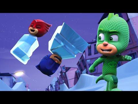 PJ Masks Full Episodes - GEKKO'S NICE ICE PLAN - 1 Hour Christmas Special (видео)
