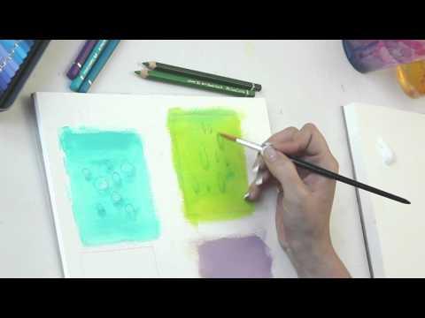 Wassertropfen in Acryl mit Aquarellstiften Tutorial – Malen lernen – by zAcheR-fineT
