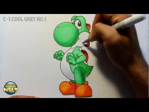 Wie zeichnet man Yoshi [Super Mario] Tutorial