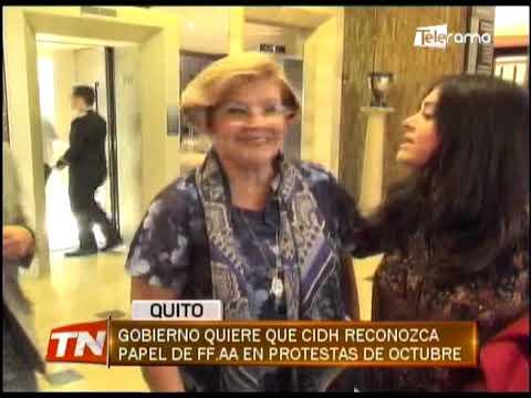 Gobierno quiere que CIDH reconozca papel de FF.AA. en protestas de octubre