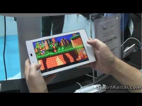 NEC Medias Tab UL N-08D Android Tablet Demo - CEATEC 2012 Japan