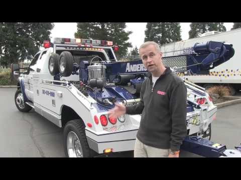towtruck - Sirennet presents an Anderson Towing (http://andersontowing.com) tow truck/wrecker: A Ford F-550 Super Duty with, Whelen M2 Super-LED Lighthead http://sirenn...