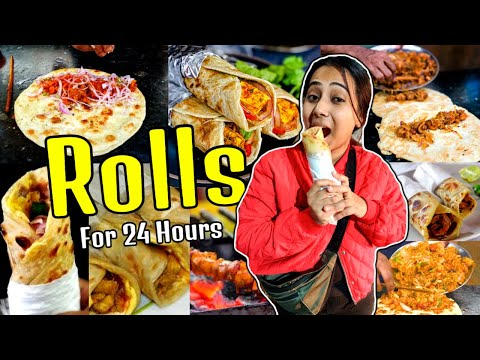 I only ate ROLL for 24 Hours   Food Challenge   Eating all types of roll