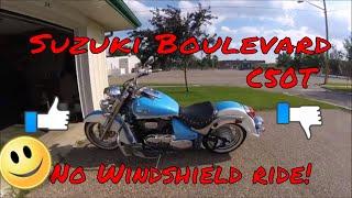 4. Suzuki Boulevard C50T no windshield ride