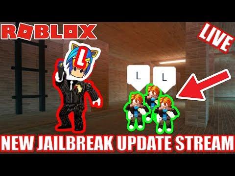 NEW SEWER ESCAPE!! Jailbreak Update Stream (possible face cam???)   Roblox Jailbreak UPDATE LIVE!
