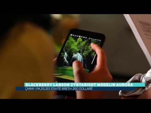 Blackberry lanson zyrtarisht modelin Aurora (Video)