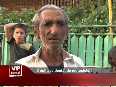 Copil accidentat de motocicletă