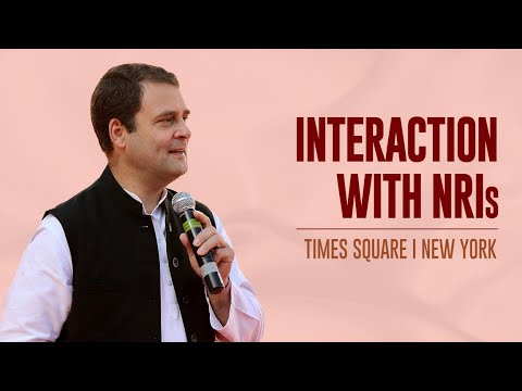 Rahul Gandhi's speech to NRIs at Times Square   New York
