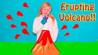 ERUPTING VOLCANO Experiement Assistant Fun Learning STEM Scien...