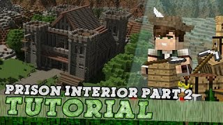 Minecraft Tutorial: Medieval Prison Interior! - Part 2/3