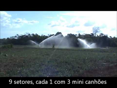 Irrigação mini canhões