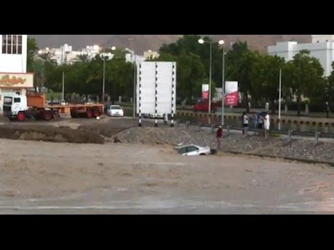 Rain water floods Darsait area in Muscat