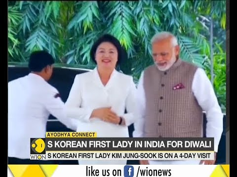 South Korean First Lady Kim Jung-Sook in India for Diwali
