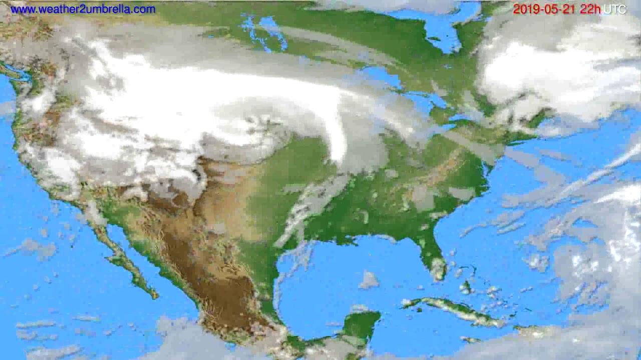 Cloud forecast USA & Canada // modelrun: 00h UTC 2019-05-19