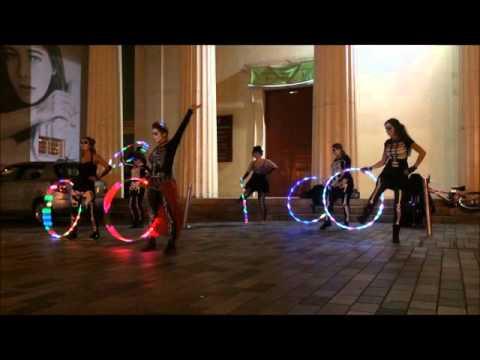 Hula Hoop Halloween Flash Mob Dia De Los Muertos