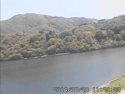 南砺市ライブカメラ 上平地区 桂湖 (видео)