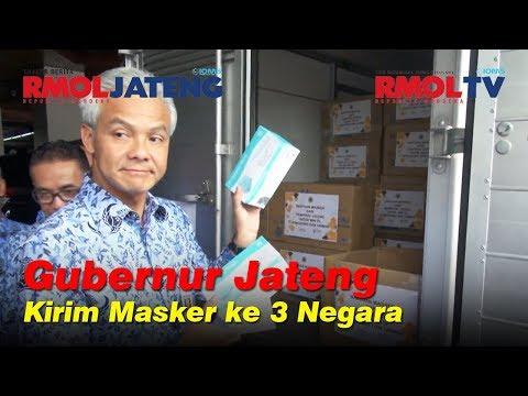Gubenur Jateng Kirim 41 Ribu Masker Untuk WNI di 3 Negara
