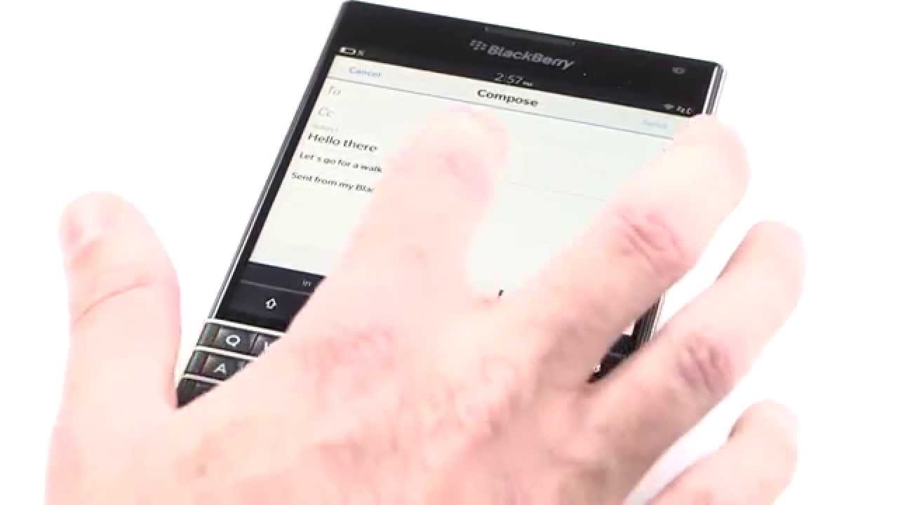 The Innovative Touch-Enabled Keyboard on the New BlackBerry Passport