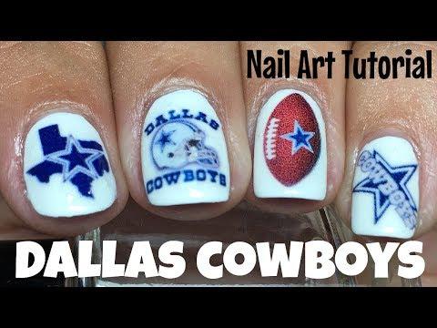 Dallas Cowboys Nails Tutorial   The Polished Pursuit