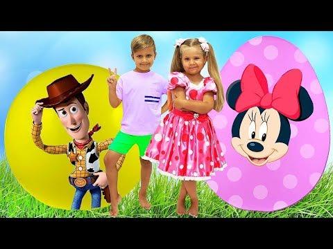 Diana y Roma - Nuevos Toy Story con Huevos Sorpresa