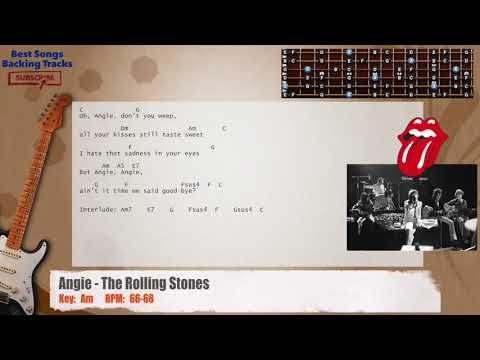 Download Video Angie The Rolling Stones Guitar Backing Track With