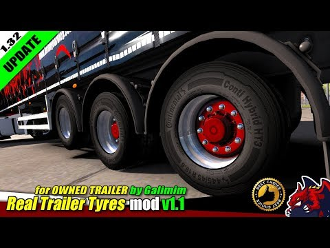 Real Trailer Tyres Mod v1.1 1.32.x