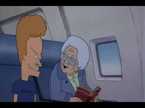 Beavis and Butthead Do America Airplane (видео)