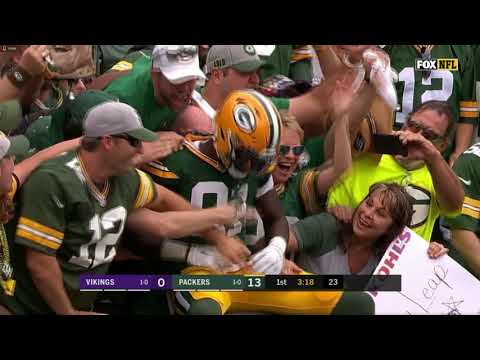 Packers' score in the 1st half, and it ended up being enough!!!