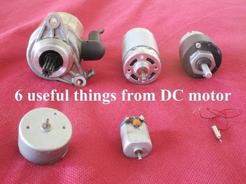 6 Useful things from DC motor - Compilation